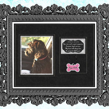 Pet Memorial Print - Pet Remembrance Gift - Rainbow Bridge - Rainbow Bridge Print - Pet Memorial - Dog Memorial - Cat -  8x10 Pet Portrait