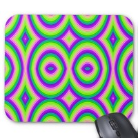 Bright Green Purple Colorful Mouse Pad