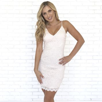 Loving Lace Dress in Ivory