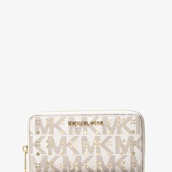 Jet Set Travel Large Perforated Logo Phone Case | Michael Kors