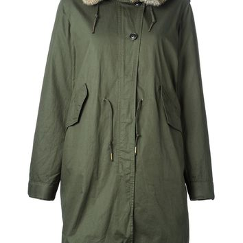 Woolrich fur lining hooded parka