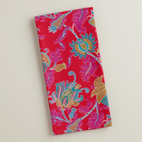 Pink Floral Rania Kitchen Towel - World Market