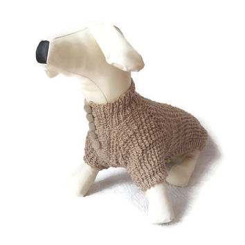 Dog Clothes dachshund Dog Sweater Warm Handmade clothes medium dog For Pets Gray Ready To Ship