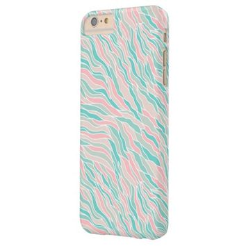Colorful Abstract Ocean Waves Pattern Barely There iPhone 6 Plus Case