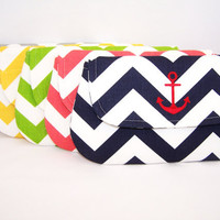 Chevron Anchor Clutch in Choice of Colors