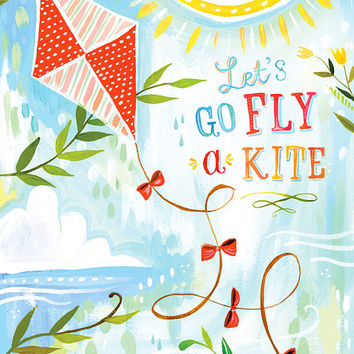 Fly a Kite   -   vertical print