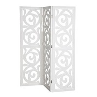 White Gloss Patterened Fold Screen | Other Accessories | Accessories | Modern Contemporary Furniture