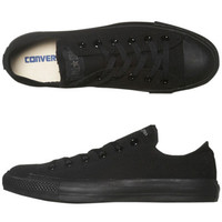 CONVERSE WOMENS CHUCK TAYLOR ALL STAR LO SHOE - BLACK MONOCHROME