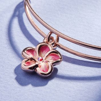 Tropical Flower Color Infusion Charm Bangle