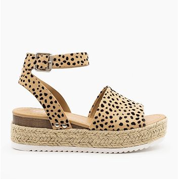 Standing In The Sun Leopard Espadrille