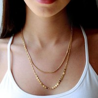 Gift New Arrival Jewelry Shiny Accessory Fashion Stylish Double-layered Necklace [7495429191]