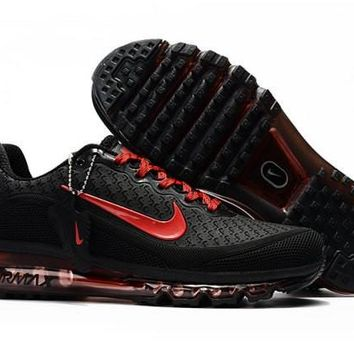 Nike Air Max 2017. 5 KPU Black And Red Sneakers Men's Running Shoes
