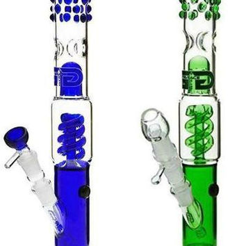 """Grace Glass Bong """"Slender Sarah"""" 2015 innovative details Percolator Ice compartment water pipe stylish heavry 14.5"""" downstem hookah pipes"""