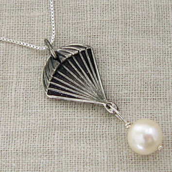 SOLID STERLING SILVER parachute and by TwilightEyesStudio on Etsy