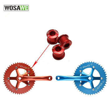 WOSAWE 5PCS/LOT Ti titanium crankset chain ring Bolts nuts Chain Ring bolt screws nuts for most chainwheel used