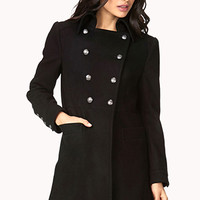 Sleek Double-Breasted Trench Coat