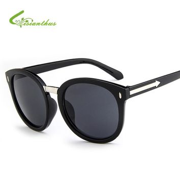 Cat Eye Sunglasses Arrowhead Decoration Mirror Sunglasses Women Men Brand Designer Sun Glasses Women's Eyewear gafas De Sol