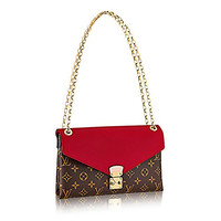 Louis Vuitton Pallas Chain Cherry Color Clutch Shoulder Bag Cross Body Article: M41201