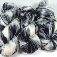 Hand Dyed Yarn, Ultra Soft Merino Superwash, Cruella De Vil, Fingering Yarn, Superwash Merino,Yarn, multi colored yarn