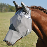 Crusader Pasture Fly Mask Long Nose with Ears