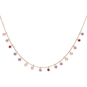 Pastel Bezel Necklace