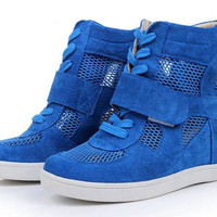 Netted Wedge Sneaker