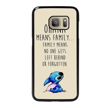STITCH LILLO OHANA FAMILY QUOTES Samsung Galaxy S7 Case Cover
