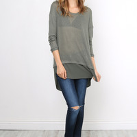 Sunday Stevens Always On Time Sweater - Olive