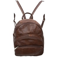 Leather Backpack Purse Mid Size & Convertible Strap Sling Bag Organizer (Dark Brown)