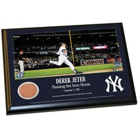 Steiner Sports New York Yankees Derek Jeter Moments Passing Gehrig 8'' x 10'' Plaque with Authentic Field Dirt (Ynk Team)