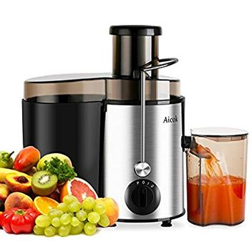 Aicok Juicer Juice Extractor BPA Free Premium Food Grade Stainless Steel Dual Speed Setting Juicer Machine, 400W