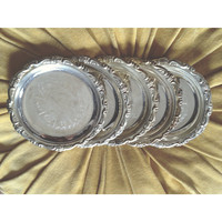 Silver Coasters Set of Five