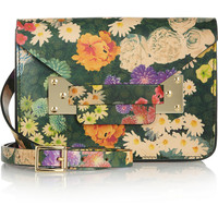 Sophie Hulme | Envelope mini floral-print leather shoulder bag | NET-A-PORTER.COM