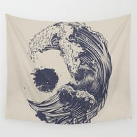 Swell Wall Tapestry by Huebucket