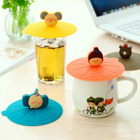 Silicone Leakproof Coffee Mug Suction Lid - Cap Airtight Sealed Cup Cover