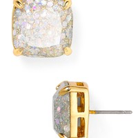 kate spade new yorkSmall Square Glitter Stud Earrings