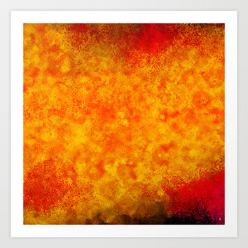 Hollowfield Art Print by Gréta Thórsdóttir  #lava #fissure #lavafield #hole #hollow #coral #hot #livingroom