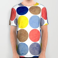 Round and Round All Over Print Shirt by Miss L In Art