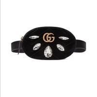 Gucci Marmont 2.0 Crystal and Velvet belt bag