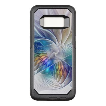 Floral Fantasy, Colorful Abstract Fractal Flower OtterBox Commuter Samsung Galaxy S8 Case
