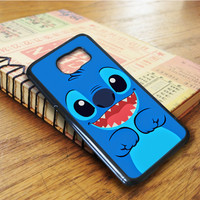 Lilo And Stitch Cartoon Blue Samsung Galaxy S6 Edge Case