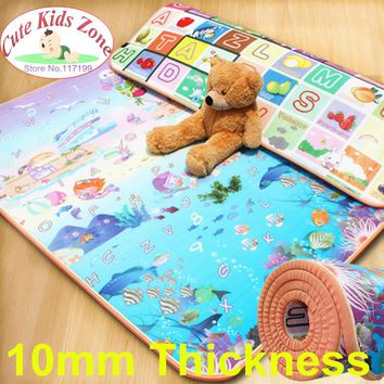 10mm Thick Child Beach Mat Picnic Carpet Rug Kids Play Mat Fruit Letters And Sea World Baby Crawling Mat CM-0215