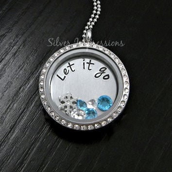 Frozen Inspired Let it go Locket Necklace / Elsa Necklace / Floating Locket /