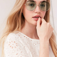 Margaret Round Sunglasses - Urban Outfitters