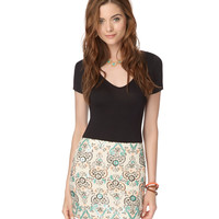 Aeropostale Womens Paisley Highlight Skirt - Beige,