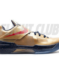 "zoom kd 4 ""gold medal"" - mtllc gld/unvrsty rd-obsdn-whi - Nike Basketball - Nike 