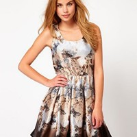 TFNC Butterfly Print Dress at asos.com
