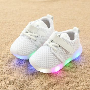 KKABBYII Children Shoes With Light Chaussure Led Enfant New Kids Sports Shoes Breathable Boys LED Sneakers For Girls