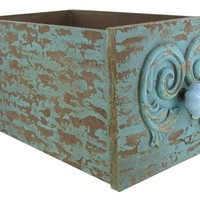 Turquoise Crackle Finish Drawer with Knob | Shop Hobby Lobby