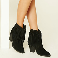 Volatile Knotted Fringe Boots